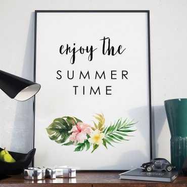 Plakat w ramie - Enjoy the summer time