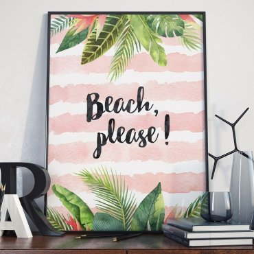 Plakat w ramie - Beach, please!