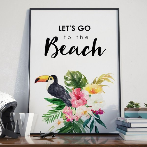 Plakat w ramie - Let's go to the beach