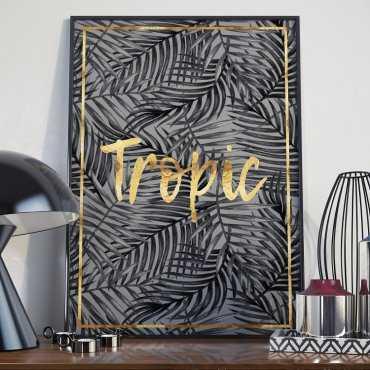 Plakat w ramie - Golden Tropic