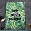 Plakat w ramie - Life is a Journey. Let's Travel.