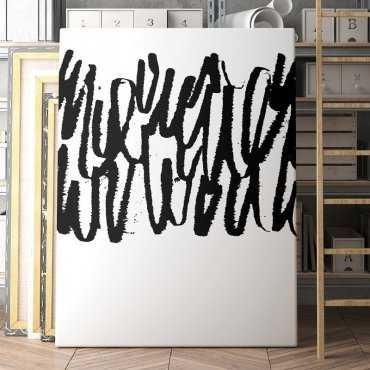 Artystyczny obraz na płótnie - ABSTRACT BRUSH