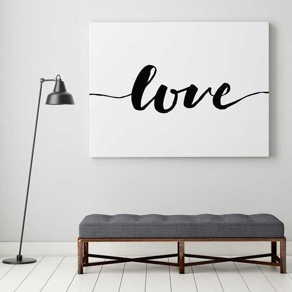 Love - Modny obraz na płótnie w stylu skandynawskim