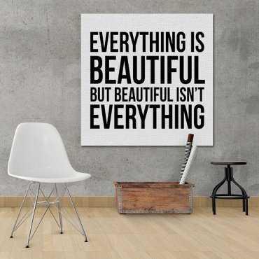 Everything & Beautiful - Obraz typograficzny