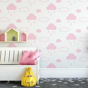 Tapeta dziecięca - PINK CLOUDS