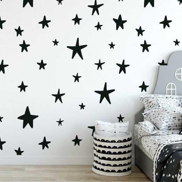 Tapeta dziecięca - SCANDI STARS