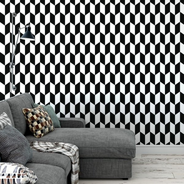 Tapeta na ścianę - 3D RHOMB
