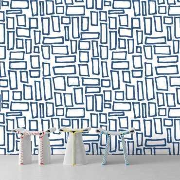 Tapeta na ścianę - BLUE PUZZLE