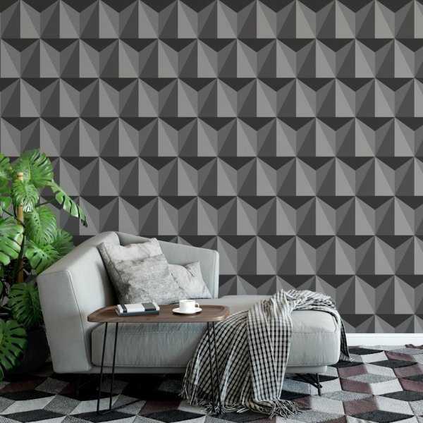 Tapeta na ścianę - 3D TRIANGLE EFFECT