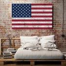 Grunge'owa Flaga USA - Obraz designerski