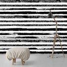 Tapeta na ścianę - Black Strokes