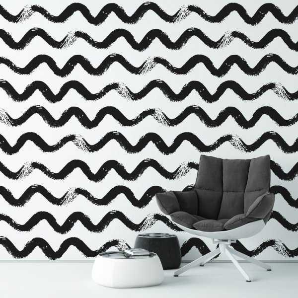 Tapeta na ścianę - Brushy Waves