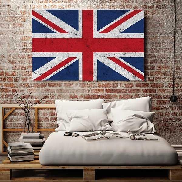 Grunge'owa Flaga UK - Obraz designerski
