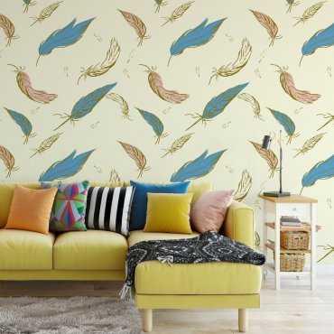 Tapeta na ścianę - Color Feathers