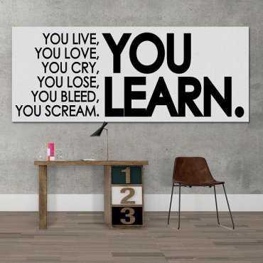 YOU LEARN. - Obraz typograficzny