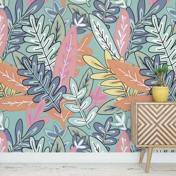 Tapeta na ścianę - Colourful Leaves