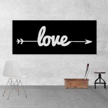 LOVE STRZAŁKA - Obraz typograficzny