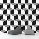 Tapeta na ścianę - Dark Blocks 3D
