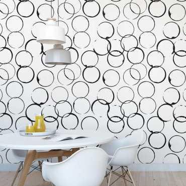 Tapeta na ścianę - COFFEE STROKES
