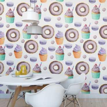 Tapeta na ścianę - CUPCAKE ART