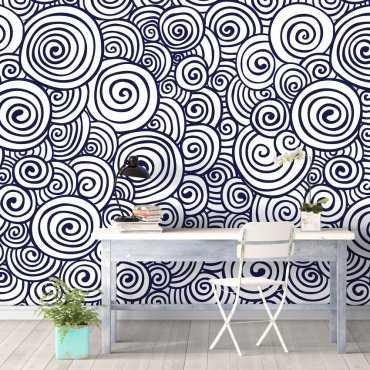 Tapeta na ścianę - MARINE SWIRLS