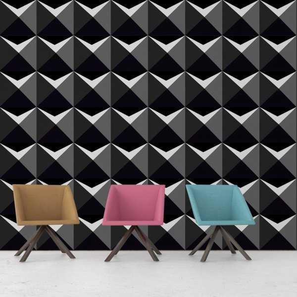 Tapeta na ścianę - GEOMETRIC SHADOW 3D