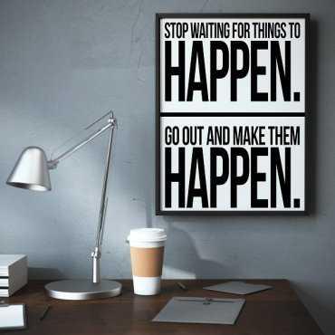 Happen. - Plakat typograficzny