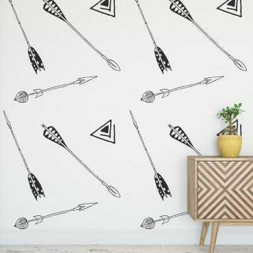 Tapeta na ścianę - DECORATIVE ARROWS