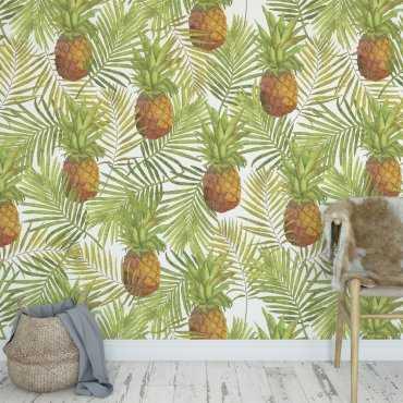 Tapeta na ścianę - PINEAPPLE SUMMER