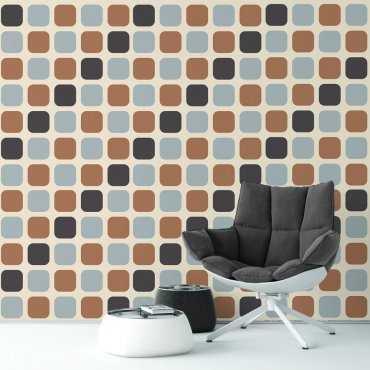 Tapeta na ścianę - MODERN BROWNIE