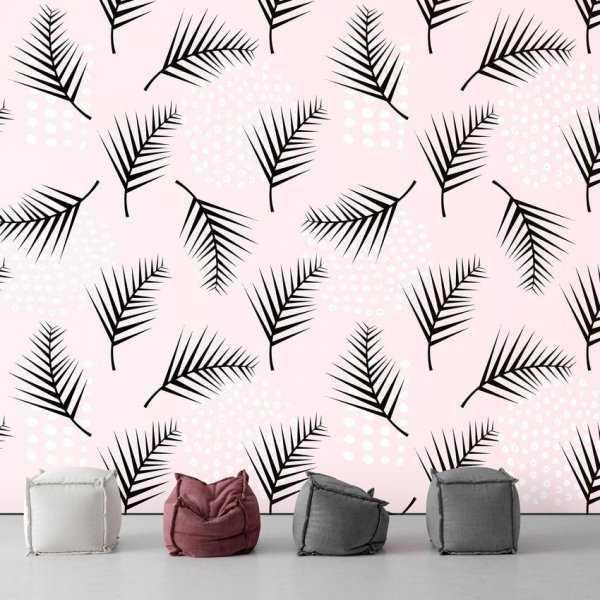 Tapeta na ścianę - PINK PALM