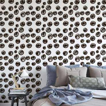 Tapeta na ścianę - PENCIL DOTS