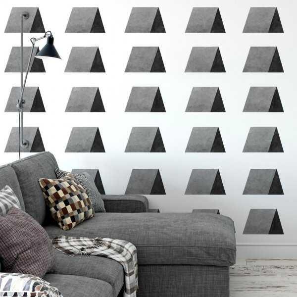 Tapeta na ścianę - TRIANGLE WAVE ART