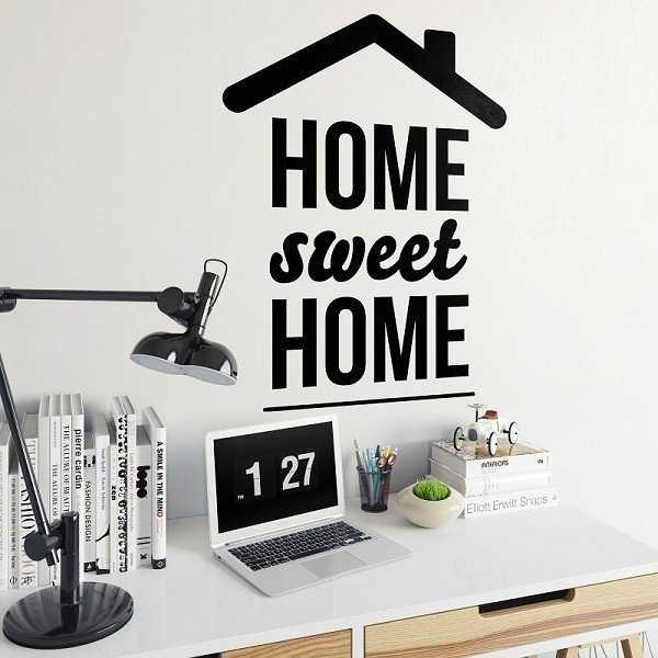 HOME SWEET HOME - Naklejka ścienna