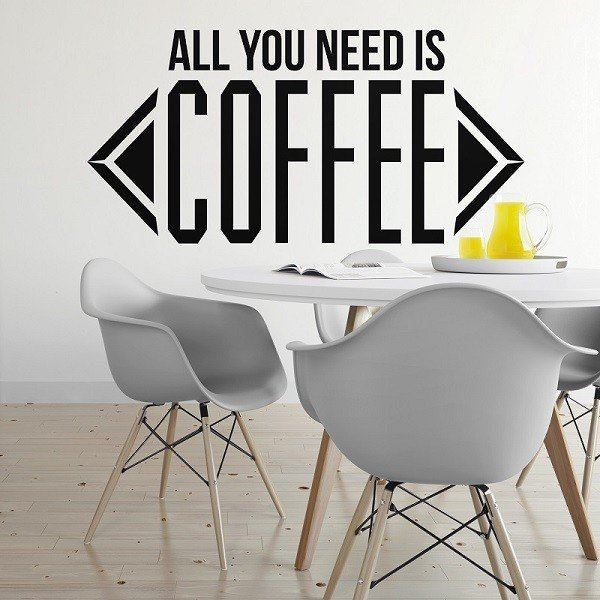 ALL YOU NEED IS COFFEE - Naklejka ścienna