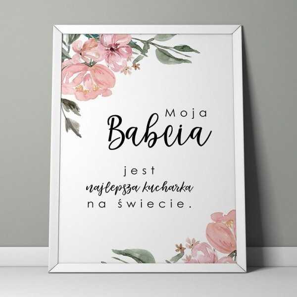 BABCIA KUCHARKA - Plakat w ramie