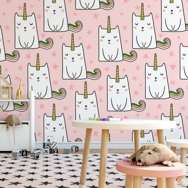Tapeta dziecięca - UNICORN CATS