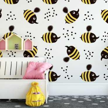 Tapeta dziecięca - CRAZY BEES