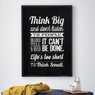 THINK BIG - Plakat typograficzny