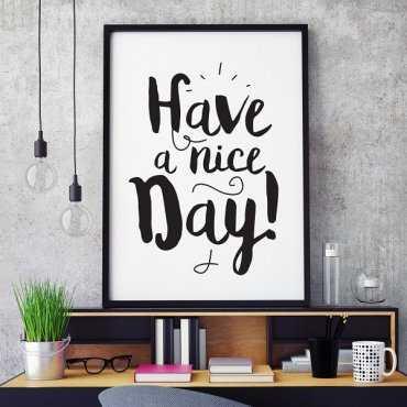 HAVE A NICE DAY - Plakat typograficzny