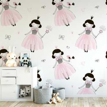 Tapeta dziecięca - PINK PRINCESS