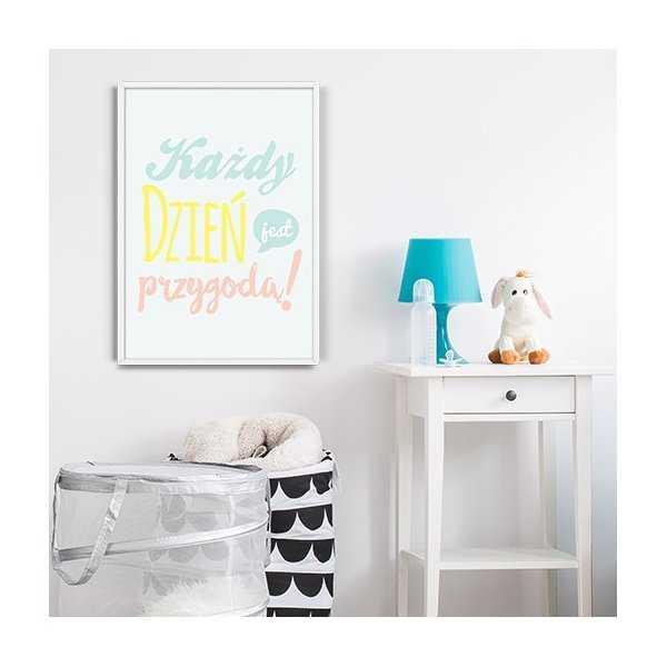 Każdy dzień jest przygodą! - Plakat typograficzny