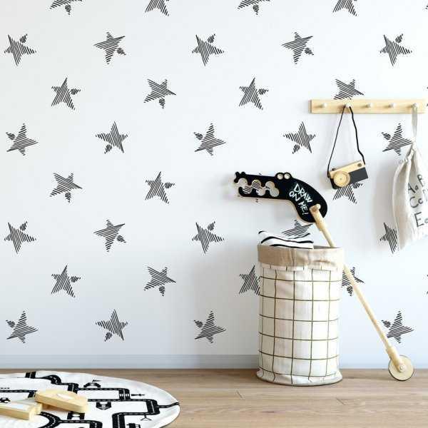 Tapeta dziecięca - STRIPPED STARS