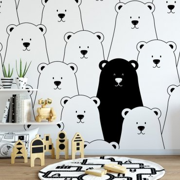 Tapeta dziecięca - BEARS FRIENDS