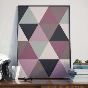 Plakat w ramie - Large Triangles