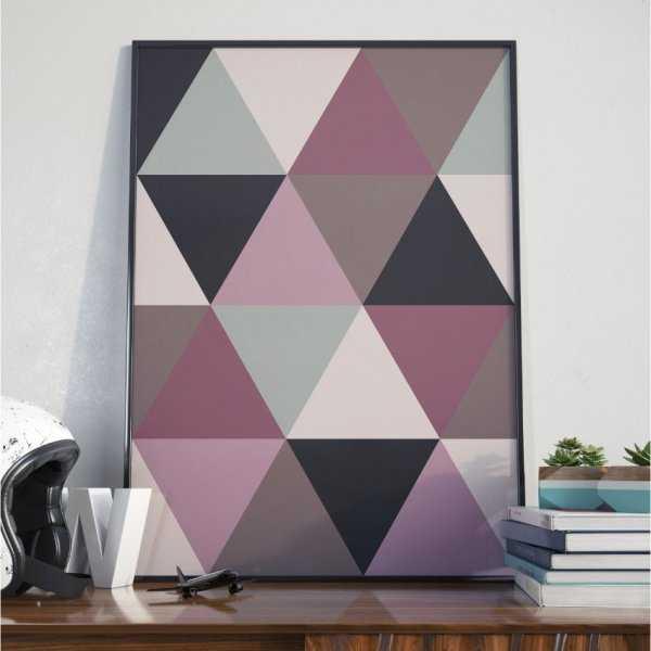 Plakat w ramie - Large Triangles