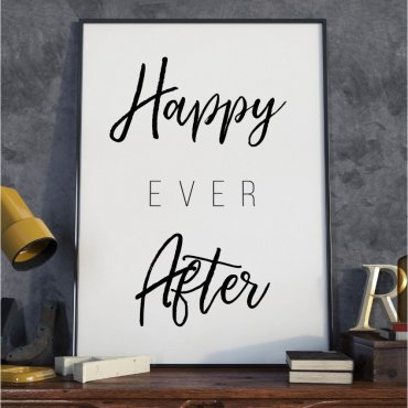 Plakat w ramie - Happy Ever After