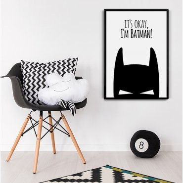 It's okay, I'm Batman! - Plakat designerski