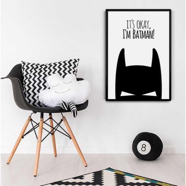 It's okay, I'm Batman! - Plakat designerski