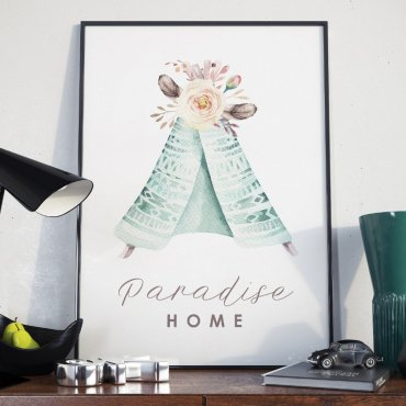 Plakat w ramie - Paradise Home